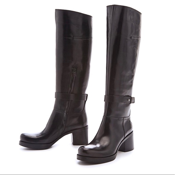 Costume National Shoes - Costume National Mid Heel Wraparound Boots Blk 7.5